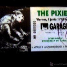 Entradas de Conciertos: ENTRADA DE CONCIERTO DE - THE PIXIES - EN SALA GARAGE VALENCIA 1989.. Lote 51456489