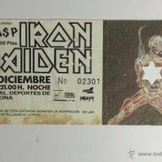 Entradas de Conciertos: ENTRADA CONCIERTO IRON MAIDEN, 1 DE DICIEMBRE 1986, PALACIO DE LOS DEPORTES BARCELONA.. Lote 58081504