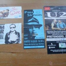 Entradas de Conciertos: LOTE 4 ENTRADAS - U2, THE CURE, GRAHAM PARKER, PAUL SIMON - (VER FOTOS). Lote 52918724