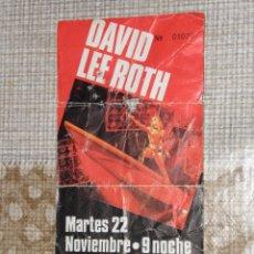 Entradas de Conciertos: ENTRADA CONCIERTO DAVID LEE ROTH MARTES 22 NOVIEMBRE PALACIO LOS DEPORTES BARCELONA . Lote 53021278