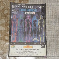Entradas de Conciertos: ENTRADA CONCIERTO JEAN MICHEL JARRE ESTADIO OLIMPICO MONTJUIC OCTUBRE 1993 BARCELONA . Lote 53021549