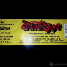 Entradas de Conciertos: ENTRADA DE CONCIERTO DE - THE WATERBOYS - EN SALA AUDITORIUM ARENA VALENCIA 1990. Lote 54400350