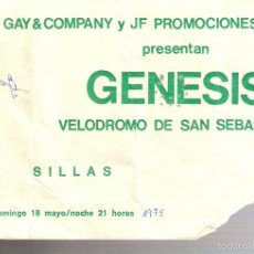 Entradas de Conciertos: GÉNESIS.ENTRADA CONCIERTO.THE LAMB LIES DOWN ON BROADWAY.VELODROMO ANOETA.SAN SEBASTIAN. 1975.. Lote 56294455