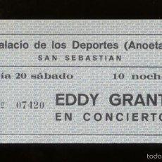 Billets de concerts: EDDY GRANT SAN SEBASTIÁN 1980 ENTRADA NUEVA, SIN CORTAR. Lote 56497029