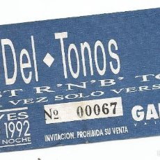 Entradas de Conciertos: LOS DEL-TONOS, BEST R´N B´ TOUR, ENERO 1992, GARAGE VALENCIA. Lote 57592075