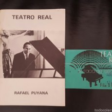 Entradas de Conciertos: PROGRAMA DEL TEATRO REAL 1976 RAFAEL PUYANA. Lote 58525029