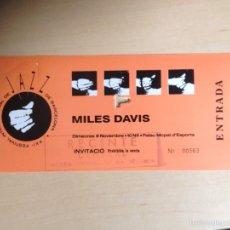 Entradas de Conciertos: MILES DAVIES - INVITACIÓN ORIGINAL CONCIERTO. Lote 60111829