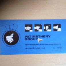 Entradas de Conciertos: PAT METHENY GROUP - INVITACIÓN CONCIERTO. Lote 60113631