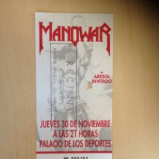 Entradas de Conciertos: MANOWAR - INVITACIÓN CONCIERTO EN BARCELONA. Lote 60119042