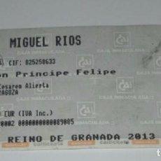 Entradas de Conciertos: -ENTRADA CONCIERTO MIGUEL RIOS - PABELLON PRINCIPE FELIPE ZARAGOZA 06/05/2011. Lote 63942419