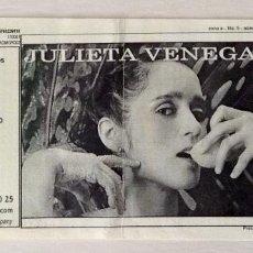 Entradas de Conciertos: JULIETA VENEGAS GRANADA PALACIO DE CONGRESOS. Lote 64680491