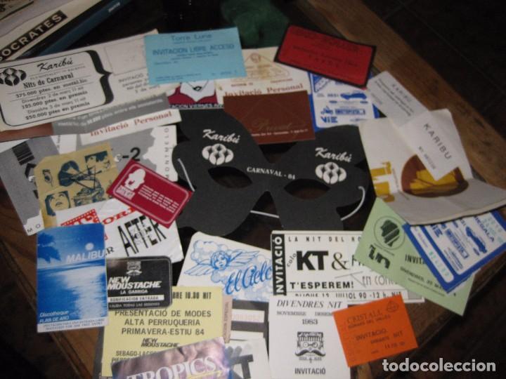 GRAN LOTE 32 ENTRADA ANTIFAZ PUBLICIDAD DISCOTECA KARIBU MOUSTACHE TIFFANYS TROPICS HH AÑOS 80 (Música - Entradas)