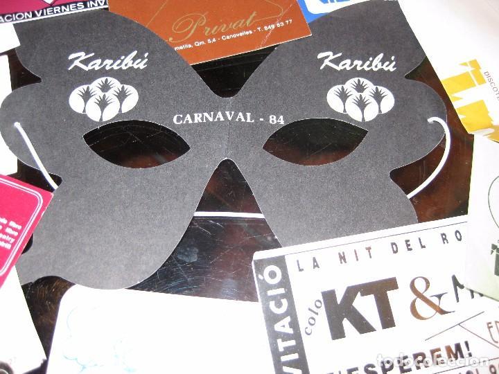 Entradas de Conciertos: gran lote 32 entrada antifaz publicidad discoteca karibu moustache tiffanys tropics hh años 80 - Foto 2 - 71209989