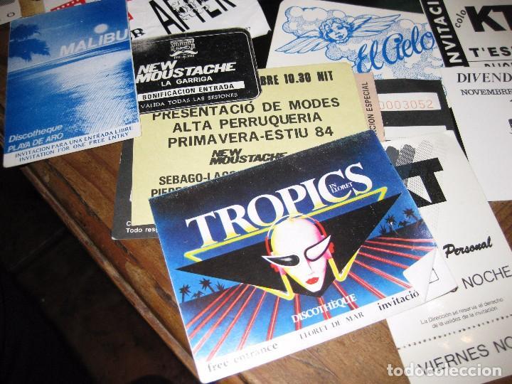 Entradas de Conciertos: gran lote 32 entrada antifaz publicidad discoteca karibu moustache tiffanys tropics hh años 80 - Foto 3 - 71209989