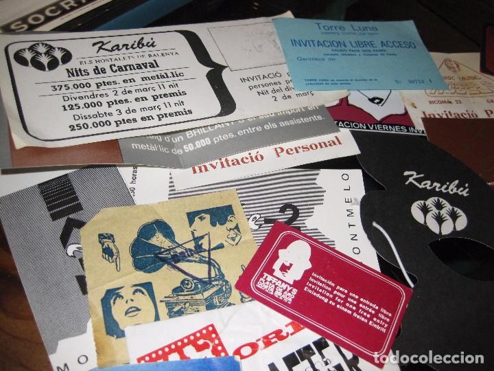 Entradas de Conciertos: gran lote 32 entrada antifaz publicidad discoteca karibu moustache tiffanys tropics hh años 80 - Foto 4 - 71209989