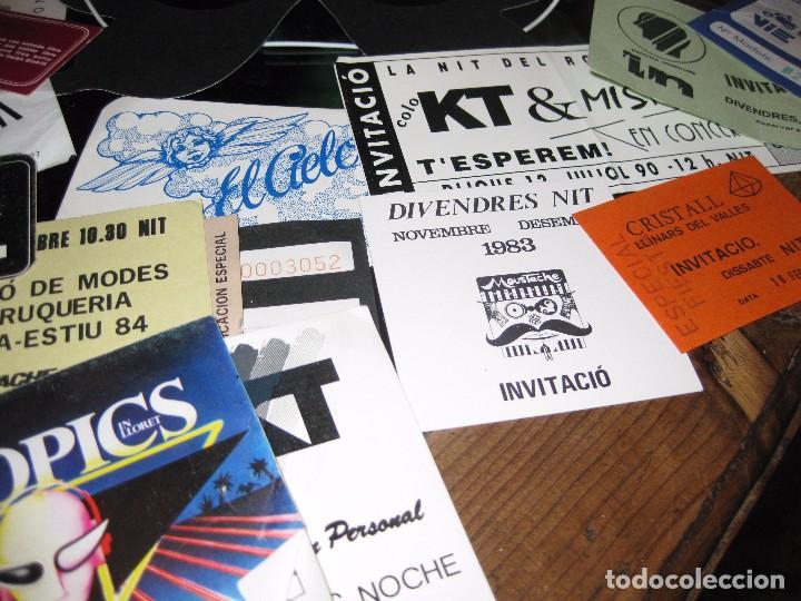 Entradas de Conciertos: gran lote 32 entrada antifaz publicidad discoteca karibu moustache tiffanys tropics hh años 80 - Foto 6 - 71209989