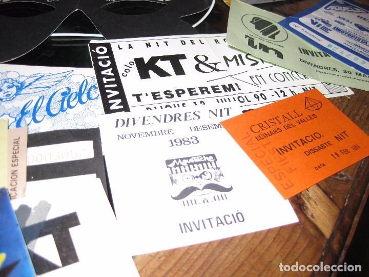 Entradas de Conciertos: gran lote 32 entrada antifaz publicidad discoteca karibu moustache tiffanys tropics hh años 80 - Foto 7 - 71209989