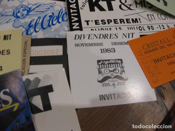 Entradas de Conciertos: gran lote 32 entrada antifaz publicidad discoteca karibu moustache tiffanys tropics hh años 80 - Foto 8 - 71209989