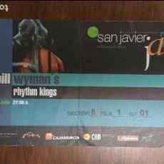 Entradas de Conciertos: BILL WYMAN`S 2001 RHYTHM KINGS SAN JAVIER JAZZ. Lote 75141983