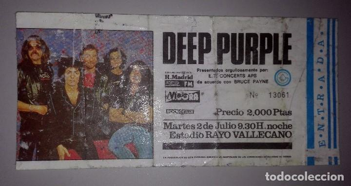 Entradas de Conciertos: ENTRADA 1985 DEEP PURPLE EN MADRID - USADA PLASTIFICADA - - Foto 1 - 75655843