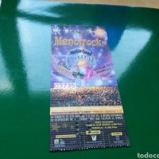 Entradas de Conciertos: ENTRADA DE LA TERCERA EDICIÓN DEL FESTIVAL MENOR ROCK DE SAN JAVIER. 1999. Lote 76738991
