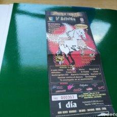 Entradas de Conciertos: ENTRADA DE LA QUINTA Y ÚLTIMA EDICIÓN DEL FESTIVAL MENOR ROCK DE SAN JAVIER. 2001. Lote 76739262