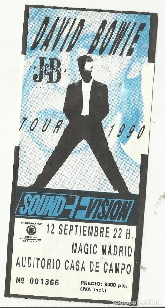 DAVID BOWIE ENTRADA CONCIERTO TOUR 1990 MADRID (Música - Entradas)