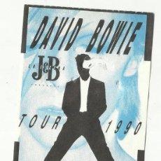 Entradas de Conciertos: DAVID BOWIE ENTRADA CONCIERTO TOUR 1990 MADRID. Lote 78436369