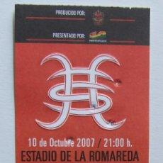 Entradas de Conciertos: HEROES DEL SILENCIO PRECIOSA ENTRADA DE CONCIERTO ZARAGOZA 10 DE OCTUBRE 2007 (COLOR ROJO). Lote 95510554