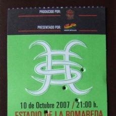 Biglietti di Concerti: HEROES DEL SILENCIO PRECIOSA ENTRADA DE CONCIERTO ZARAGOZA 10 DE OCTUBRE 2007 (COLOR VERDE). Lote 219259563