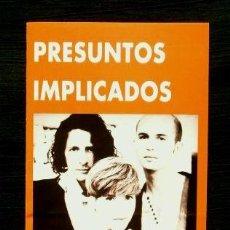 Entradas de Conciertos: FOLLETO CONCIERTO PRESUNTOS IMPLICADOS 14 JUL 1992 - PUEBLO ESPAÑOL- GREC 92 FESTIVAL OLIMPIC ARTS. Lote 79180005