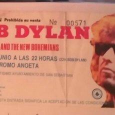 Entradas de Conciertos: DYLAN EN VELODROMO ANOETA DE SAN SEBASTIÁN CON EDIE BRICKELL & THE NEW BOHEMIANS DE TELONEROS. Lote 80858139