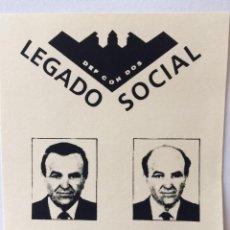 Entradas de Conciertos: LEGADO SOCIAL DEF CON DOS GALERÍA DE ARTE FLYER ORIGINAL. Lote 83746884