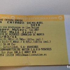 Entradas de Conciertos: ENTRADA ROGER WATERS - THE WALL LIVE - 2011. MADRID. Lote 179160000