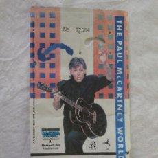 Entradas de Conciertos: ENTRADA PRIMER CONCIERTO THE PAUL MCCARTNEY MADRID WORLD TOUR PALACIO DEPORTES 2 NOVIEMBRE 1989. Lote 86966728