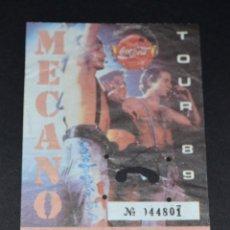 Entradas de Conciertos: ENTRADA MECANO. SEVILLA. TOUR 1989. Lote 87116636