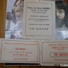 Entradas de Conciertos: THE BEATLES ENTRADAS-INVITACION MADRID Y BARCELONA 1965 +CARTEL+POSTER.FOTOS Y DESCRIPCION. Lote 89567680