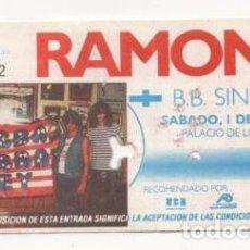 Entradas de Conciertos: (ALB-TC-7) ENTRADA CONCIERTO RAMONES. Lote 89798820