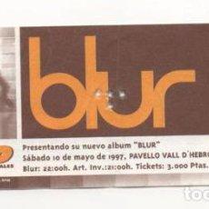 Entradas de Conciertos: (ALB-TC-7) ENTRADA CONCIERTO BLUR. Lote 89798856