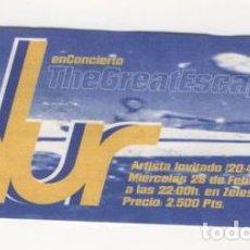 Entradas de Conciertos: (ALB-TC-7) ENTRADA CONCIERTO BLUR. Lote 89798860