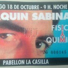Entradas de Conciertos: JOAQUIN SABINA PABELLÓN DE LA CASILLA DE BILBAO 18 DE OCTUBRE DE 1992. Lote 91233795