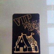 Entradas de Conciertos: PASI VIP DE TARGETA DE PLASTICO BARRACA 95 SPOOK ACTV PUZZLE HEAVEN RUTA DESTROY BAKALAO VILLADELINA. Lote 92741335
