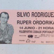 Entradas de Conciertos: SILVIO RODRÍGUEZ + RUPER ORDORIKA ANTIGUA ENTRADA ORIGINAL COMPLETA PORTUGALETE. Lote 94113295