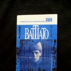 Entradas de Conciertos: BATTIATO. Lote 94906599