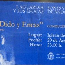 Entradas de Conciertos: ENTRADA OPERA -DIDO Y ENEAS- EN LAGUARDIA. Lote 95741840