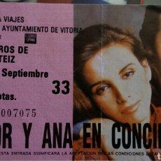 Entradas de Conciertos: ENTRADA CONCIERTO VICTOR Y ANA EN VITORIA. Lote 95741919