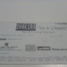 Entradas de Conciertos: ENTRADA CONCIERTO SHAKIRA. TOUR DE LA MANGOSTA.. Lote 95871952