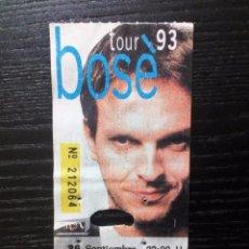 Entradas de Conciertos: MIGUEL BOSÉ ENTRADA ORIGINAL TOUR 93 LAS ROZAS. Lote 96562703