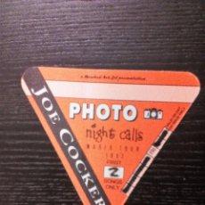 Entradas de Conciertos: JOE COCKER WORLD TOUR 1992 AUTORIZACIÓN PHOTO NIGHT CALLS. SIN USO . Lote 96612151