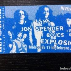 Entradas de Conciertos: THE JON SPENCER BLUES EXPLOSION + ELECTRIC GARDEN ENTRADA ORIGINAL COMPLETA. SALA REVÓLVER. Lote 96763175